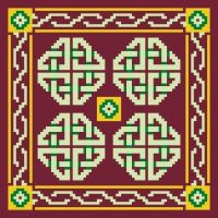 Lambourne - Cross Stitch Kit (printed canvas)