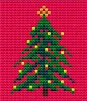 Christmas Tree - Starter Cross Stitch (Printed Canvas)