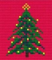 Christmas Tree - Starter Cross Stitch (Printed Canvas)