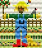 Scarecrow - Starter Cross Stitch (Printed Canvas)