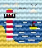Lighthouse - Starter Cross Stitch (Printed Canvas)