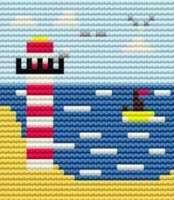 Lighthouse - Starter Cross Stitch (Printed Canvas)