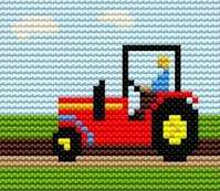 Tractor - Starter Cross Stitch (Printed Canvas)
