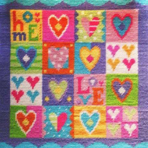 Hearts Modern Tapestry Kit