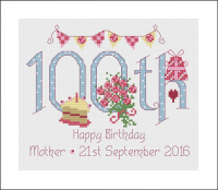<!-- 015 --> 100th Birthday Sampler Kit - Nia Cross Stitch