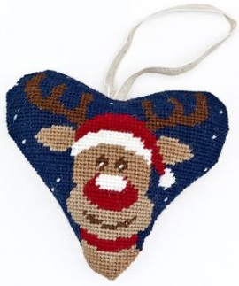 Christmas Rudolph Heart Tapestry