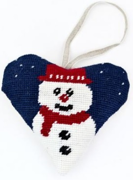 Christmas Snowman Heart Tapestry (Buy 2 for £27)