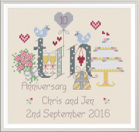 <!-- 020 -->Tin Anniversary 10 Years - Nia Cross Stitch