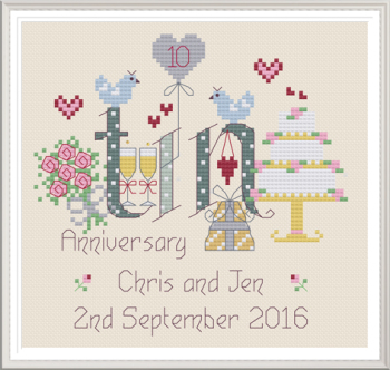 Tin Anniversary 10 Years - Nia Cross Stitch