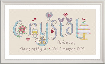Crystal Anniversary 15 Years - Nia Cross Stitch