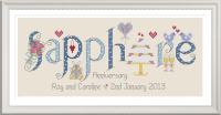 <!-- 025 -->Sapphire Anniversary 45 Years - Nia Cross Stitch