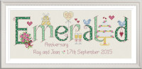 <!-- 027 -->Emerald Anniversary 55 Years - Nia Cross Stitch