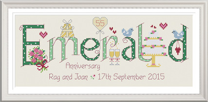 Emerald Anniversary 55 Years - Nia Cross Stitch