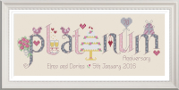 <!-- 029 -->Platinum Anniversary 70 Years - Nia Cross Stitch