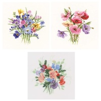 Set of 3 - Valerie Pfeiffer Posy Cross Stitch (Set A)