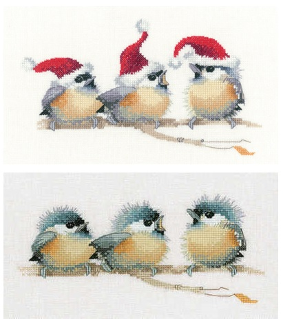 chickadees cross stitch