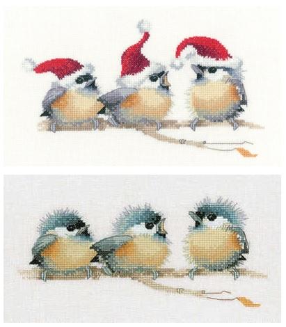 chickadees cross stitch