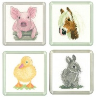 Pig, Pony, Duckling & Rabbit Coaster Set