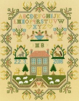 Sheep May Safely Graze - Moira Blackburn Cross Stitch