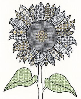Sunflower Blackwork Embroidery - Bothy Threads