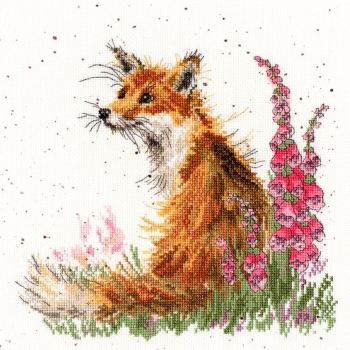 Amongst The Foxgloves cross stitch - Hannah Dale