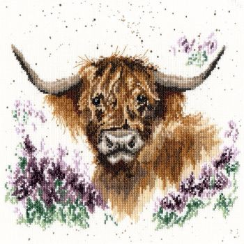 Highland Heathers cross stitch - Hannah Dale