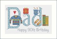 Dad Birthday Card Kit - Nia Cross Stitch