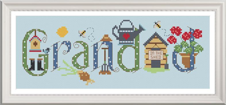 Grandad Sampler Kit - Nia Cross Stitch