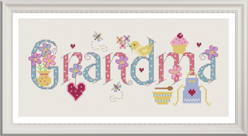Grandma Sampler Kit - Nia Cross Stitch