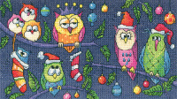Christmas Owls Cross Stitch - Heritage Crafts