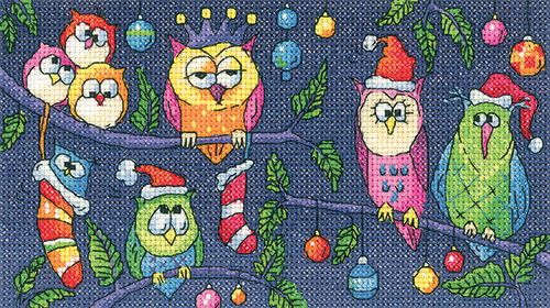 Christmas Owls cross stitch