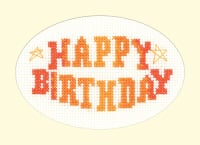 Happy Birthday Cross Stitch Card Kit