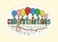 Congratulations Cross Stitch Card Kit