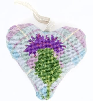 Tartan Thistle Heart Tapestry (Buy 2 for £27)