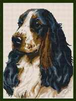 Cocker Spaniel Tapestry - Brigantia Needlework