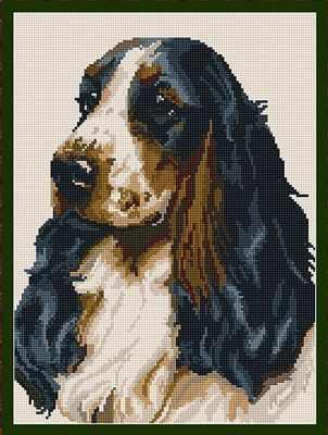Cocker Spaniel Tapestry - Brigantia Needlework