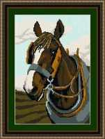 Shire Horse Tapestry Kit - Brigantia Needlework