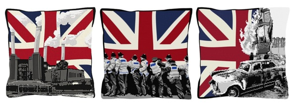 Contemporary union jack tapestry needlepoint kits