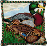 Mallard - Cross Stitch (printed canvas)