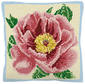Peony - Cross Stitch (printed canvas)