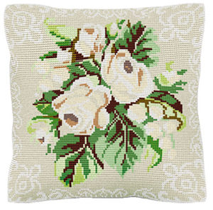 White Roses - Cross Stitch Kit (printed canvas)
