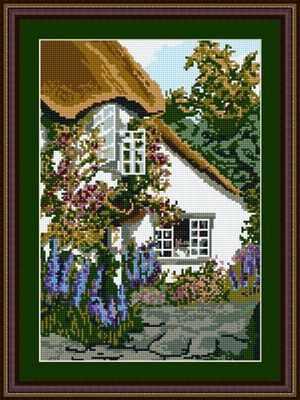 Devon Cottage Tapestry Kit - Brigantia Needlework