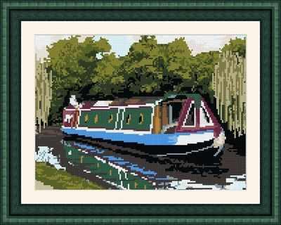 Canal Boat Tapestry Kit - Brigantia Needlework
