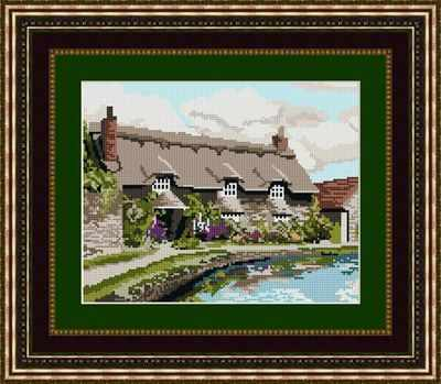Thornton le Dale Cottage Tapestry Kit - Brigantia Needlework