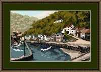 Lynmouth Harbour Tapestry Kit - Brigantia Needlework