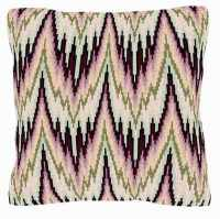 Bargello Style Peach Tapestry