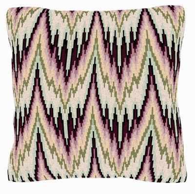 Peach Bargello Style Tapestry - Brigantia