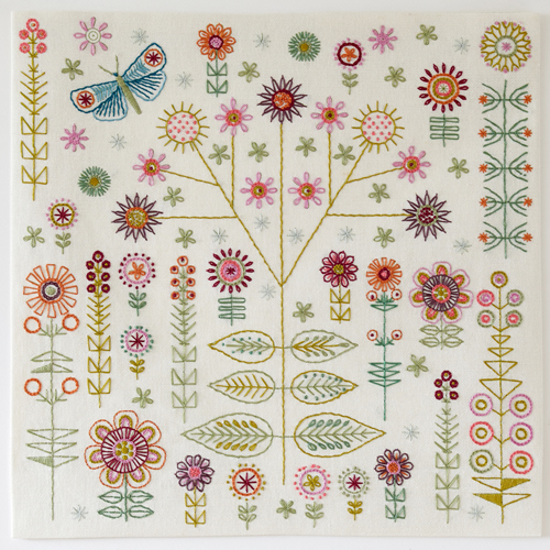 Garden Embroidery Kit - Nancy Nicholson