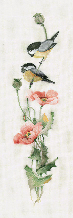 serenade in pink cross stitch kit