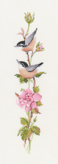 sonatina rose cross stitch kit